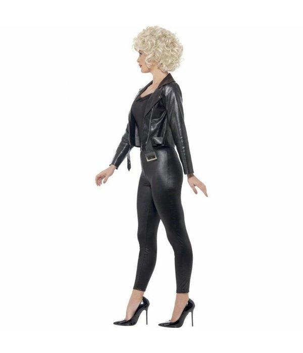 Sandy Grease Vrouw Kostuum Zwart