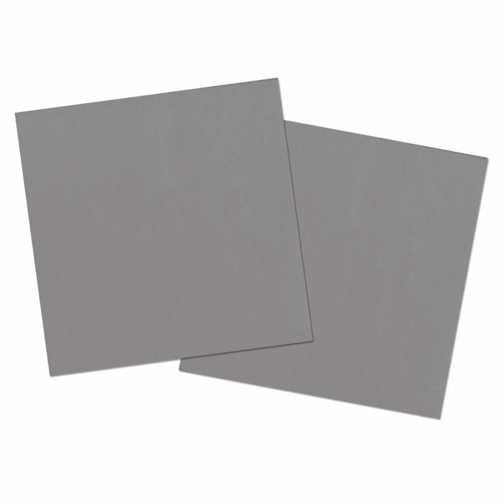 Zilverkleurige Servetten Metallic - 20 stuks