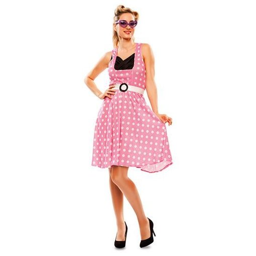 Pin-up jurk 50's roze