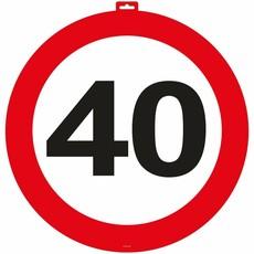 40 Jaar Verkeersbord Deurbord - 47cm