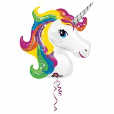 Rainbow Unicorn Folie Ballon 83 x 73cm