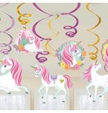 12 Swirls decoratie Magical Unicorn