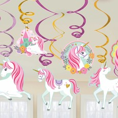 12 Swirls decoratie Magical Unicorn