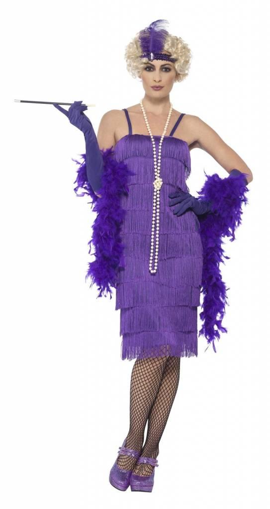Flapper jurk paars lang