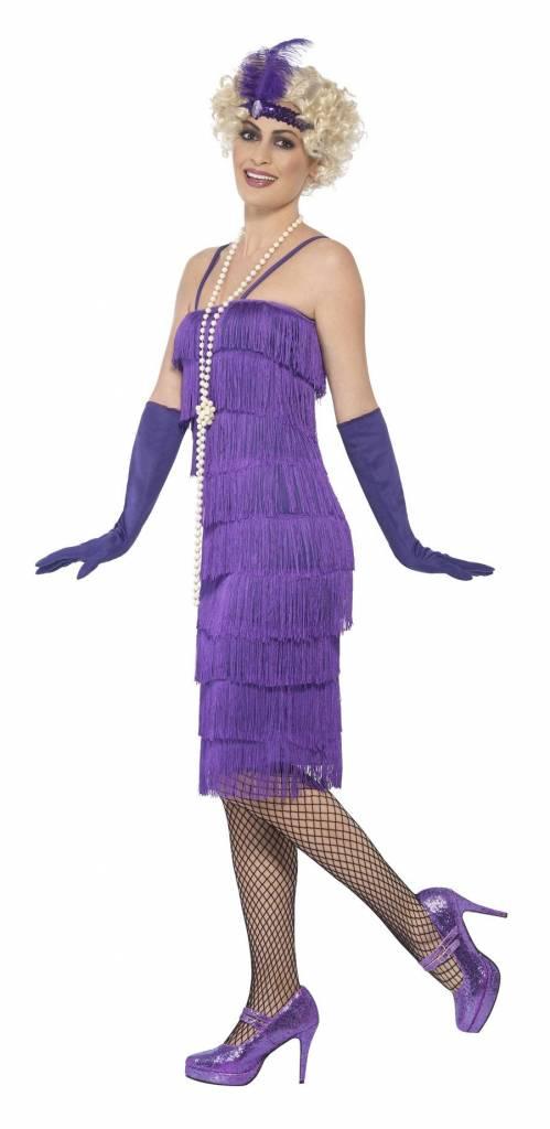 2defff3a37b742 Flapper jurk paars lang  Flapper jurk paars lang