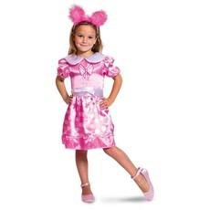 Roze Minnie Mouse jurk met stippen