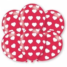 Hartjes latex ballonnen 6 stuks