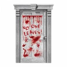 Deur deco druipend blood No One Leaves
