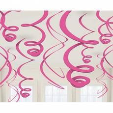 12 swirls decoraties roze
