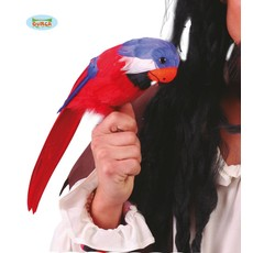 Papegaai 38cm met elastiek