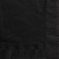 Zwarte servetten 20 stuks