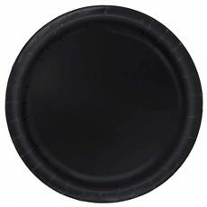 Zwarte feestborden 16 stuks