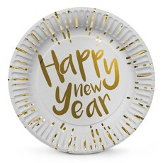 Set 6 Bordjes 'Happy New Year' (23 cm)