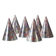 Set 6 Holografische hoedjes
