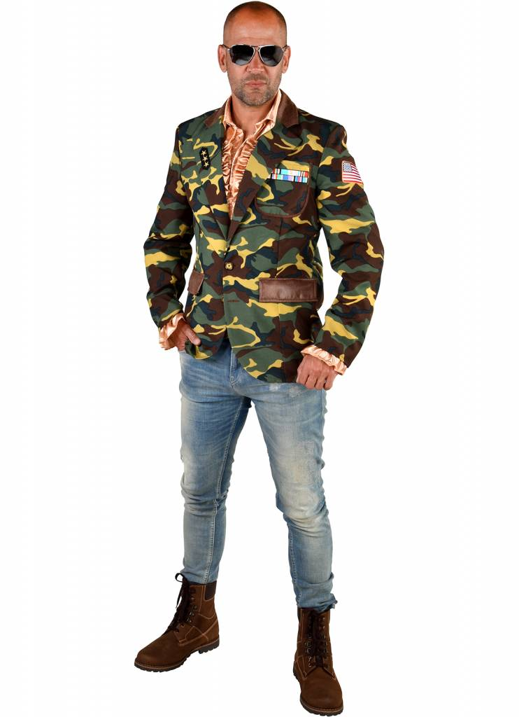 Colbert Leger Camouflage luxe