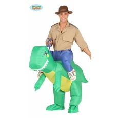 Opblaasbaar Dino Kostuum