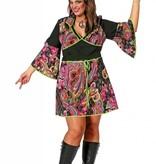 Hippie jurk grote maat met hoofdband