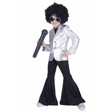 Disco Popster Jasje Kind - Zilver