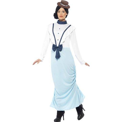 Posh Victoriaanse dame kostuum