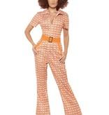 Authentieke 70's retro kostuum vrouw