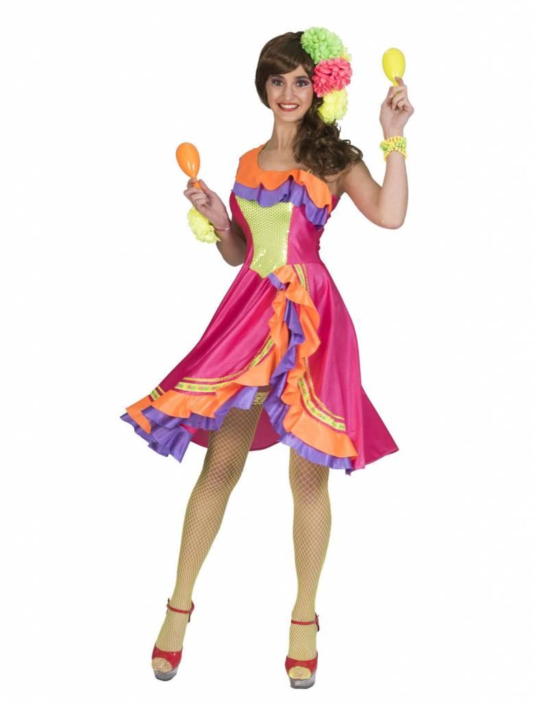 Caribisch Carnaval Kleuren Jurkje Vrouw