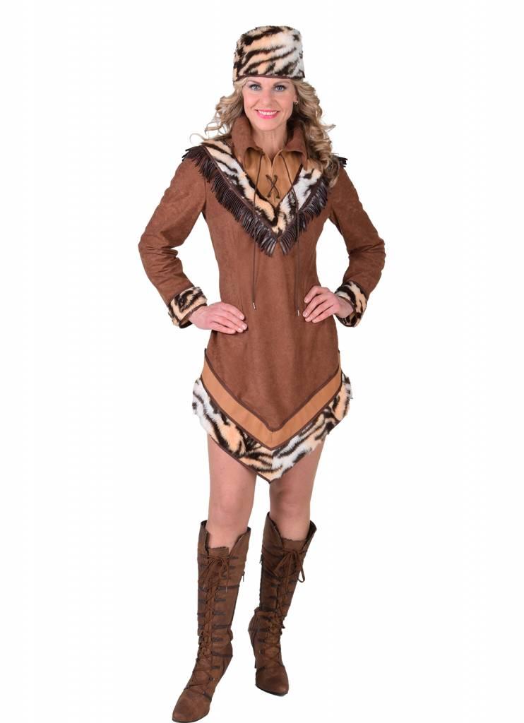 Lady David Crocket Wilde Westen Kostuum Vrouw