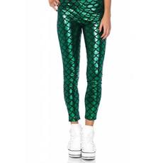 Groene Zeemeermin legging met schubben look