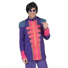 Neon Beatles jas heren paars