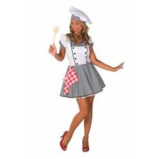 Kokkin Restaurant Vrouw Kostuum