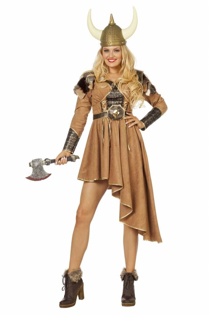 Viking Vrouw Kostuum Jurk