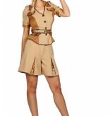 Safari Kostuum Kort Vrouw