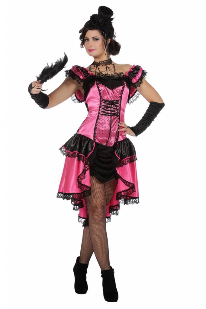 Can Can Roze Danseres Vrouw Kostuum