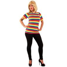 T-shirt regenboog dames