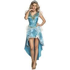 IJskonining Prinses Jurk Vrouw Blauw