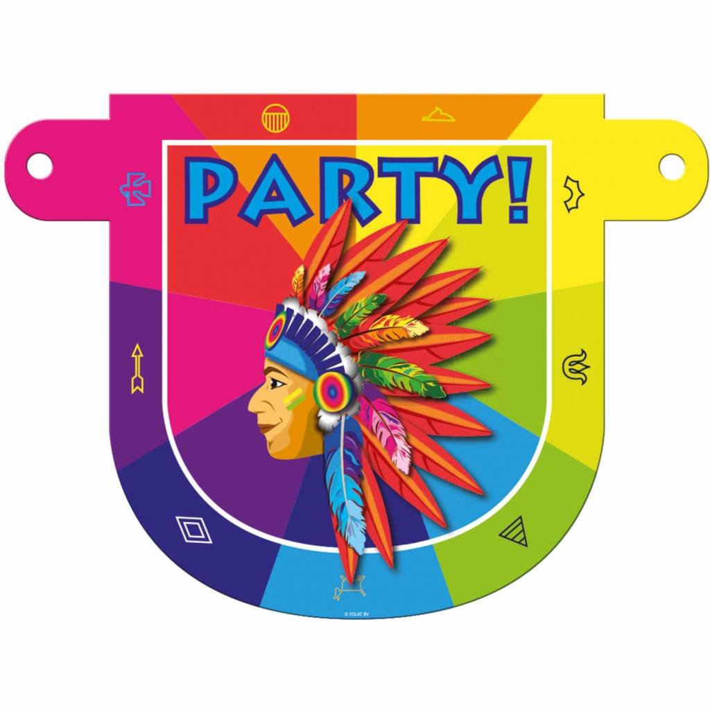 Banner letter Indianen Party