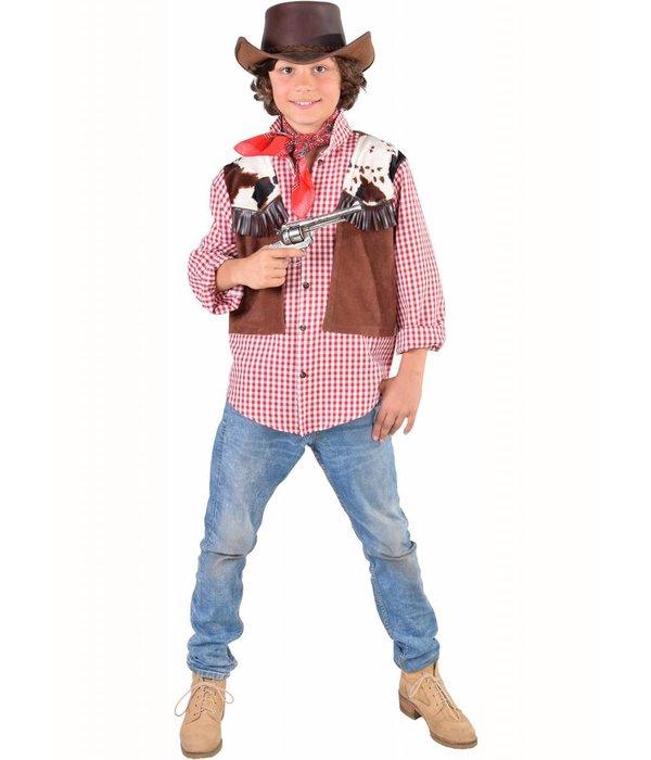 Cowboy blouse met vest jongen