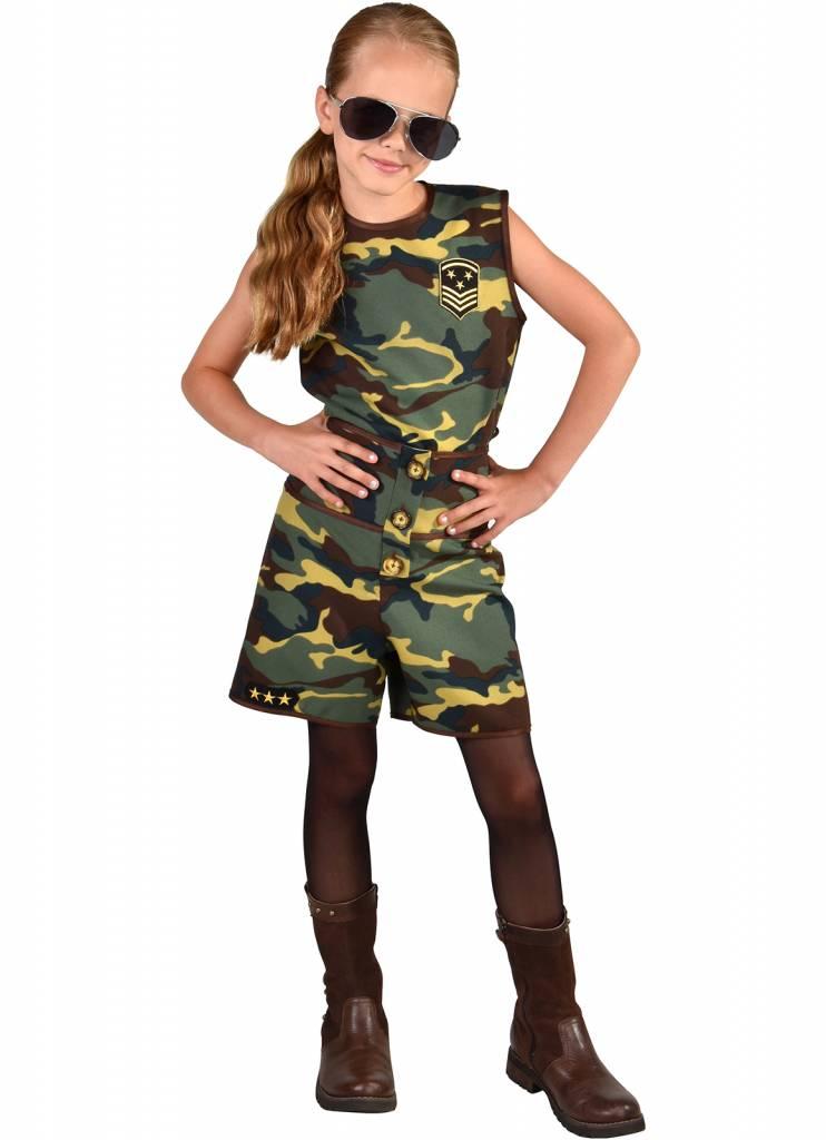 Camouflage Commando Meisje Kostuum
