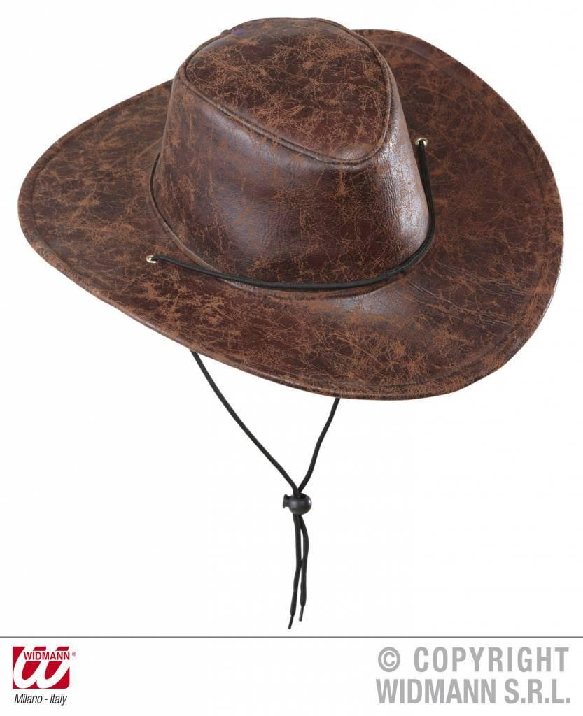 Cowboy hoed lederlook bruin new