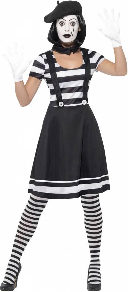 Vrouwelijke Mime Artiest Kostuum