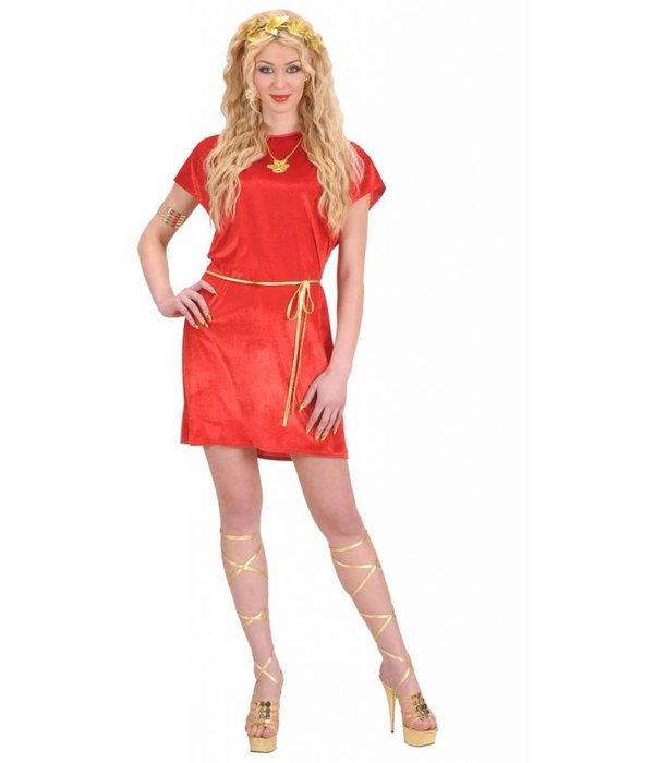Romeins Tuniek Rood Vrouw