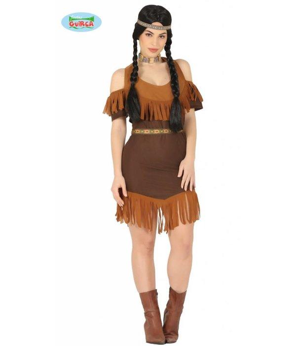 Akule Indianen Kostuum Vrouw