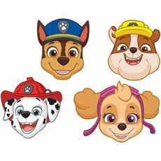 Paw Patrol maskers papier - 8 stuks