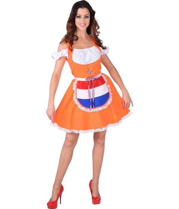 Oranje Dirndl Kostuum Vrouw