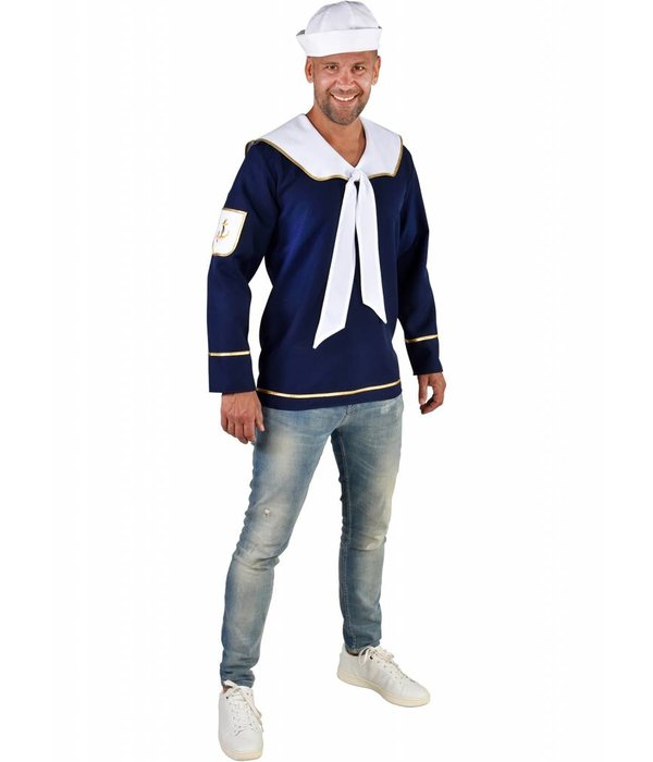 Blauwe Matroos Blouse Man