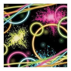 Servetten glow party 16 stuks