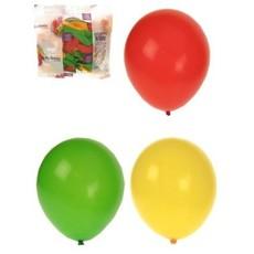 Ballonnen rood/geel/groen 50 stuks