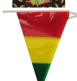Vlaggenlijn rood/geel/groen 10 meter