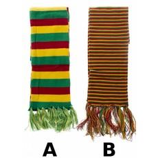Sjaal Carnaval rood/geel/groen