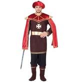 Middeleeuwse Hoveling Kostuum Man
