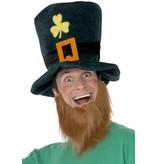 Leprechaun Hoed met baard